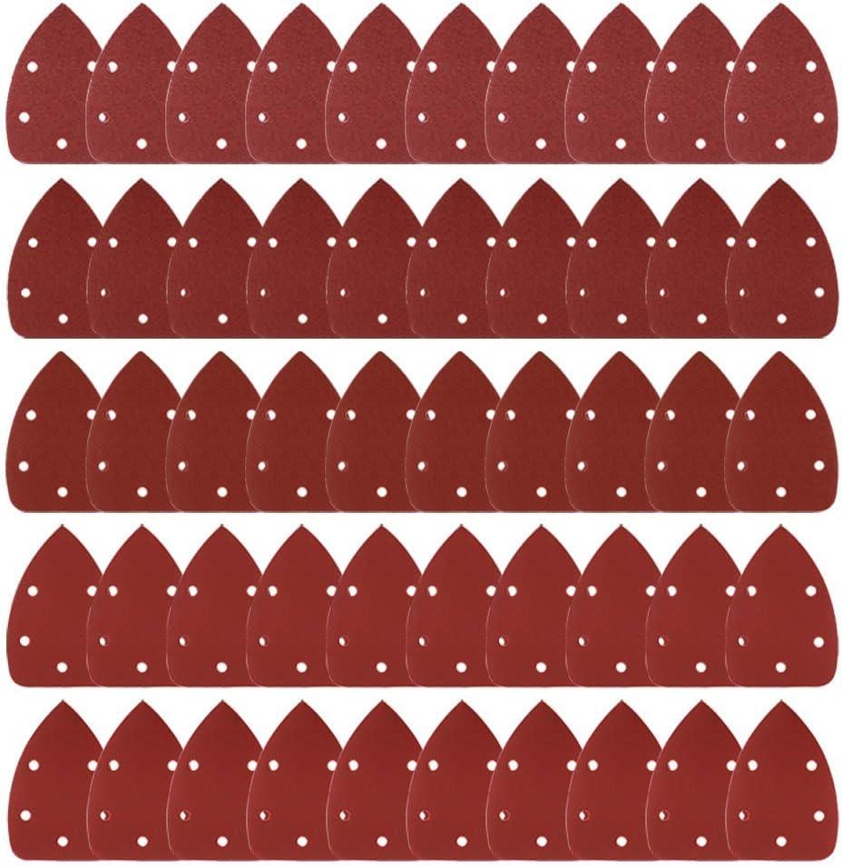 Buy Allamazing 50PCS Mouse Detail Sander Sandpaper Sanding Paper Assorted 40 80 120 180 240 Grits