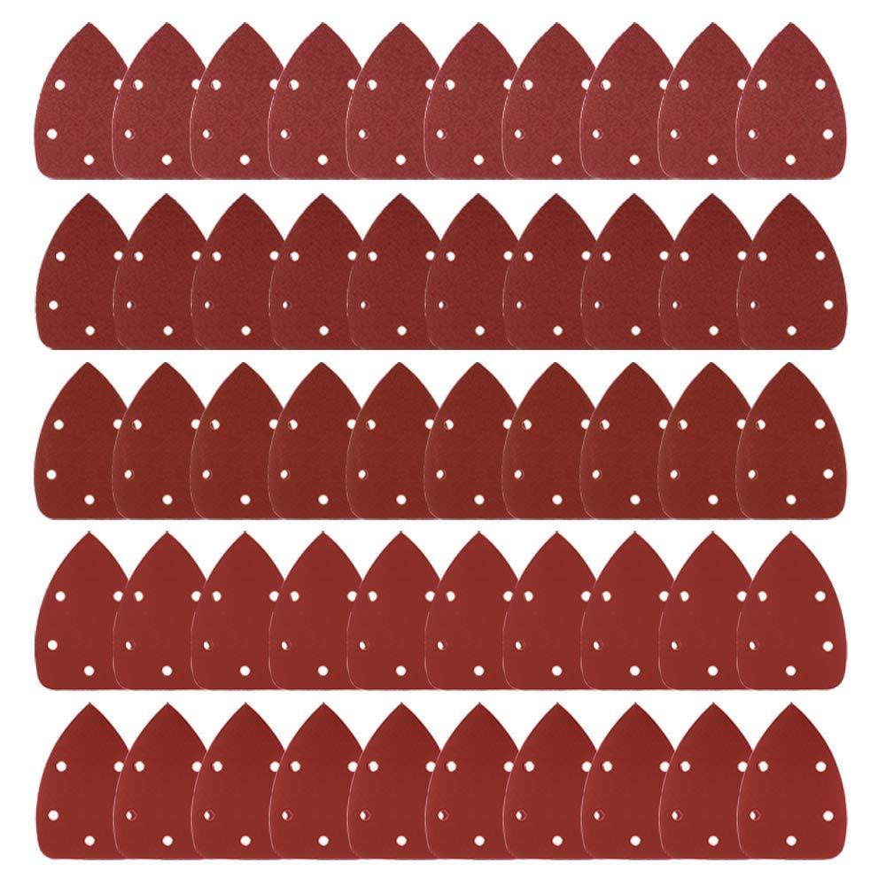 Coceca Mouse Detail Sander Sandpaper Sanding Paper Assorted 40 80 120 180 240 Grits (50PCS Mouse Sandpaper)