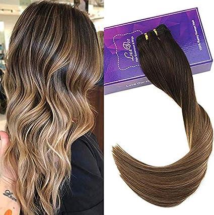 LaaVoo - Extensiones de pelo de balayage de 35,5 a 55,8 cm, para ...