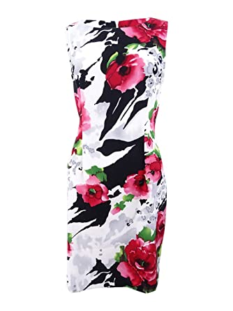 0690cf4c261 Amazon.com  Connected Women s Petite Stretch Twill Floral-Print ...