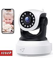 Victure Cámara de Vigilancia FHD,1080P Cámara IP WiFi con Detección de Movimiento,Visión Nocturna,Audio de 2 Vías, 2.4GHz WiFi, Compatible con iOS/Android