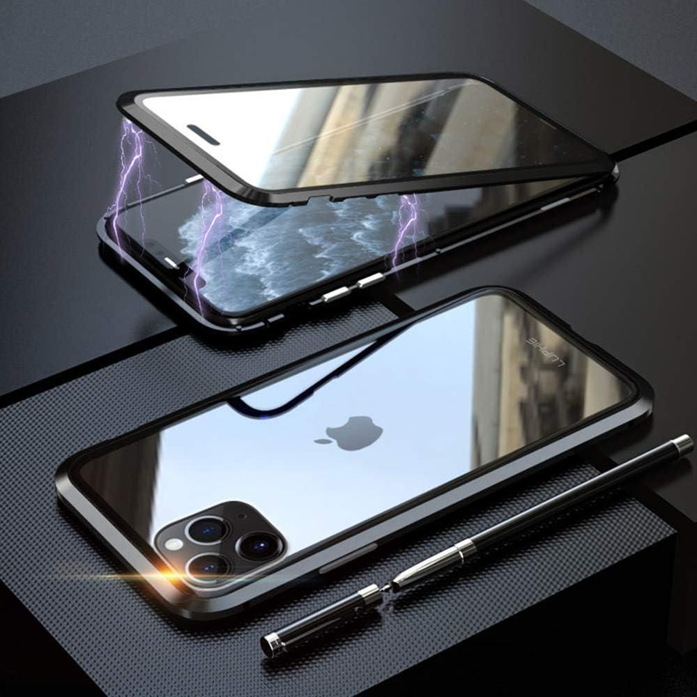 Coque iPhone 11 Pro Vert 1 Pcs Film Verre Trempé Protection Intégrale 360 DegrèsUltra Slim Transparent PC TPU Etui