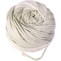 F Fityle 100 Yards/92m Pure Cotton Rope Braided Cord Wall Hanging Plant Hanger 4mm