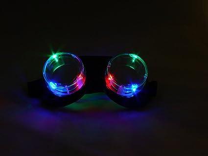 Amazon.com: Gafas de luz LED de colores a través de las ...
