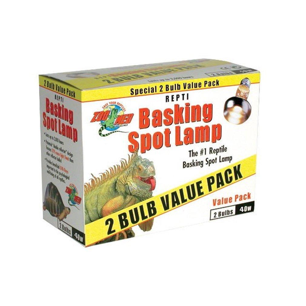 Zoo Med Repti Valuepack Éclairage pour Reptile/Amphibien 2 x 40 w LZB340