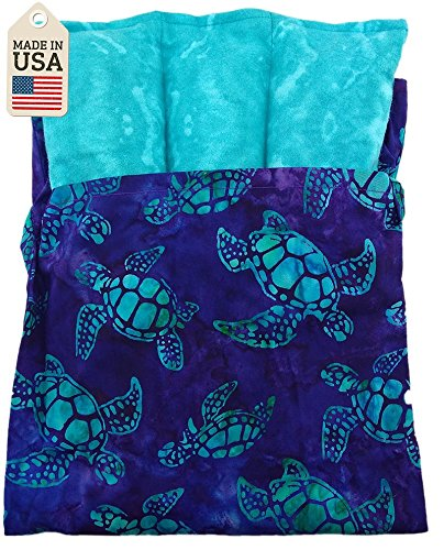 Lumbar Pac - Hot Or Cold Pack for Lower Back - Batik Turtle Fabric by Grampa's Garden (Image #3)
