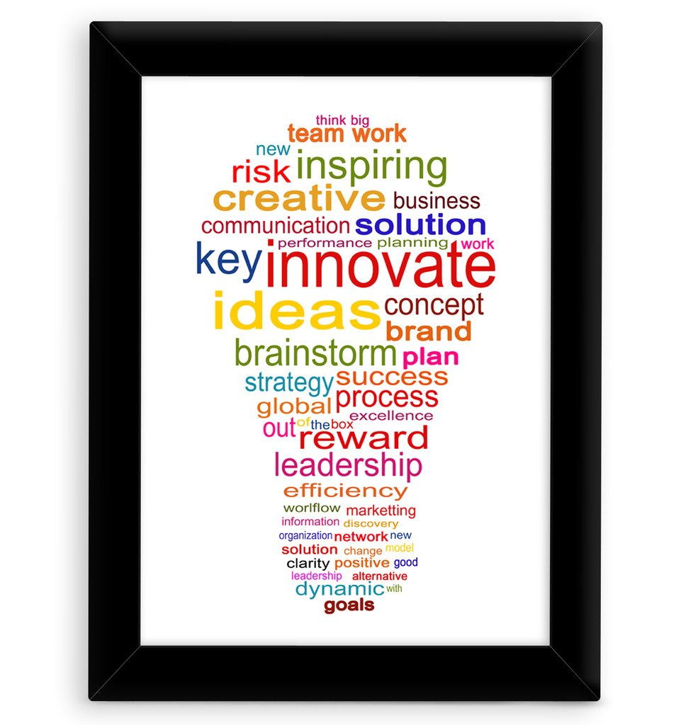 TIED RIBBONS® Inspirational wall posters quotes with frame
