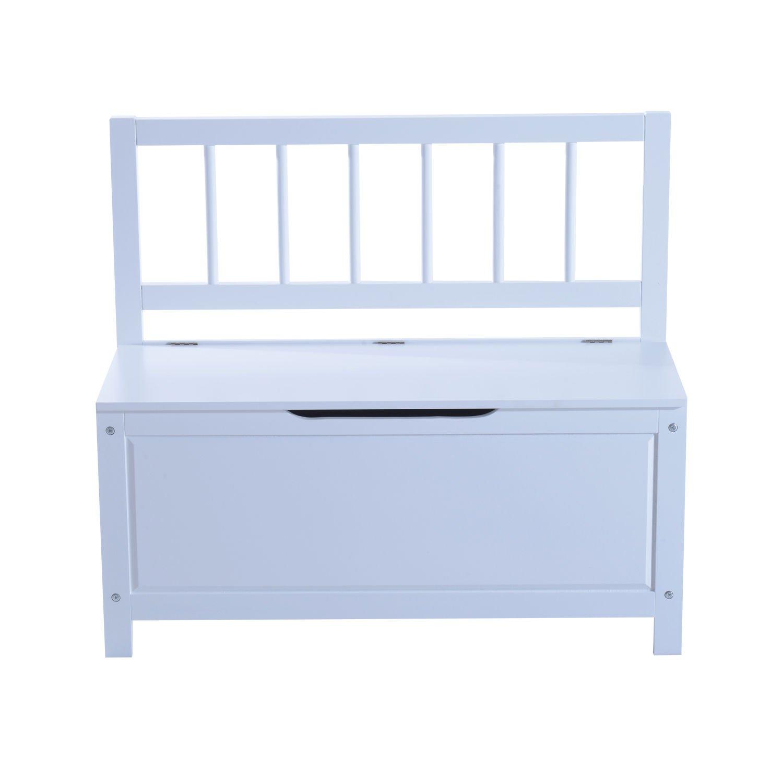Homcom Entryway Storage Bench Box Hallway Saet Furniture Wooden Cabinet