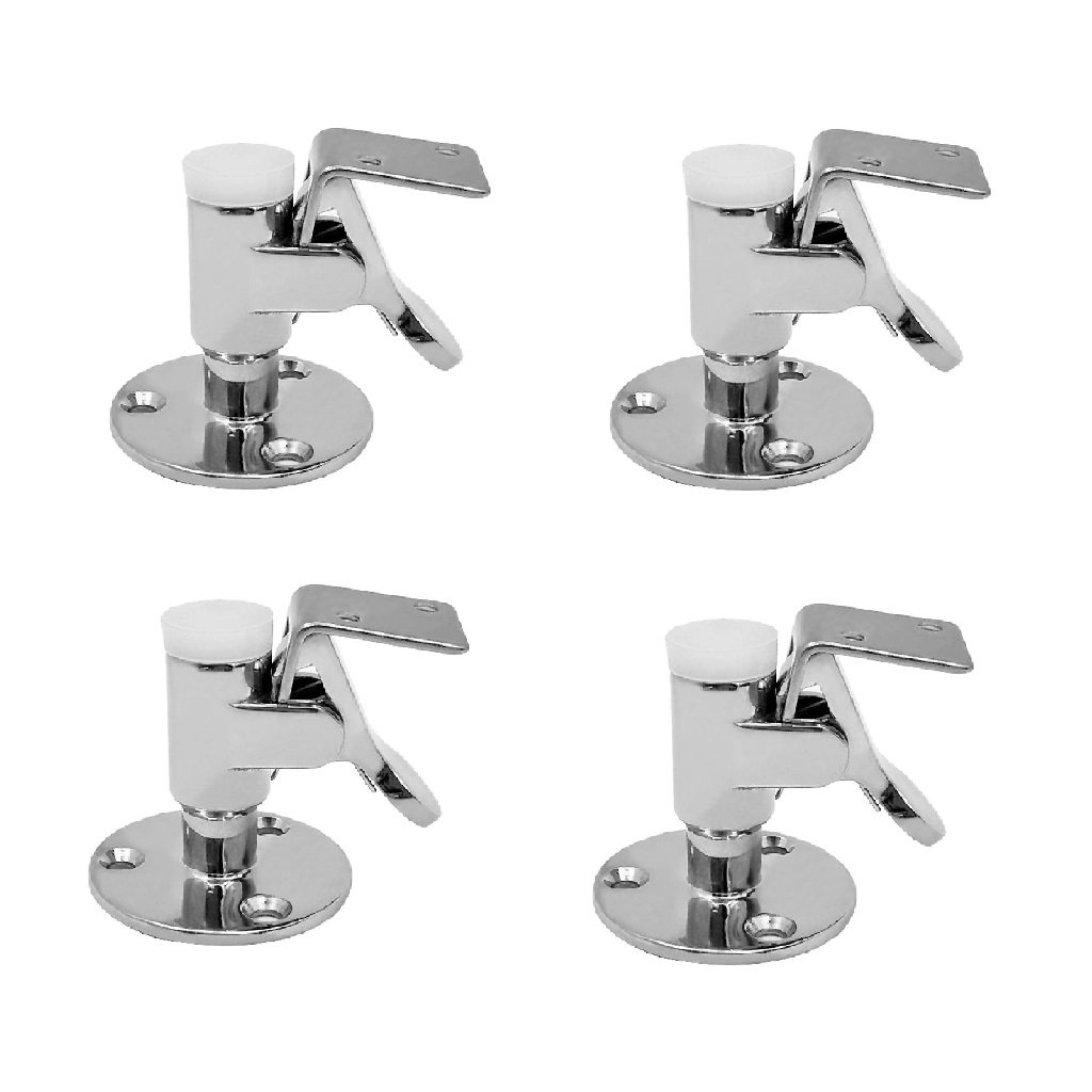 Baoblaze 4x Heavy Duty Stainless Steel Door Stop Retaining Catch and Holder for Boat