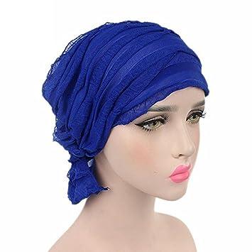 Wcysin Turbans Capuchón de gasa para mujer, con diseño de cicatriz, de quimioterapia
