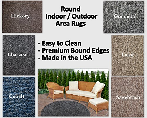 Round Indoor/Outdoor Area Rugs. Perfect for decks, balconies, gazebos, sunrooms, porches and much more. Many Sizes and colors available. (10' Round, Toast) (Sunroom Rugs)