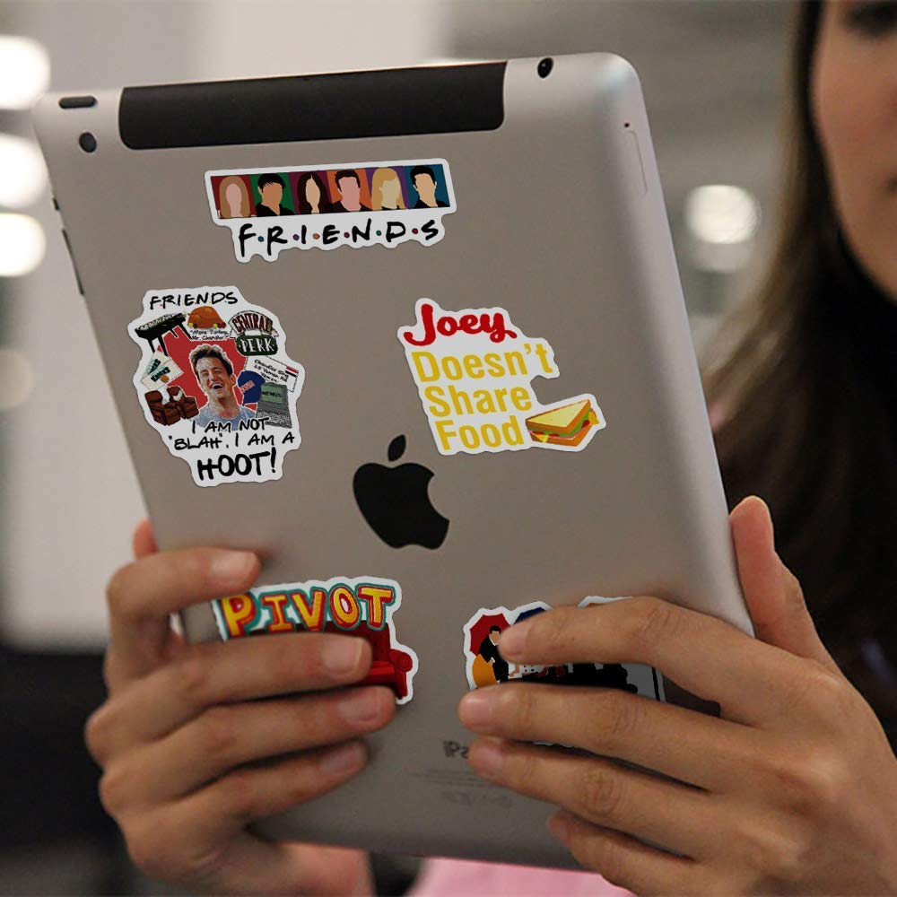 50 pcs Friends Sticker Pack of TV Show Theme Stickers-Funny Waterproof Vinyl Stickers for Laptops, Hydro Flasks,Water Bottles,Computers,Phone,Skateboard