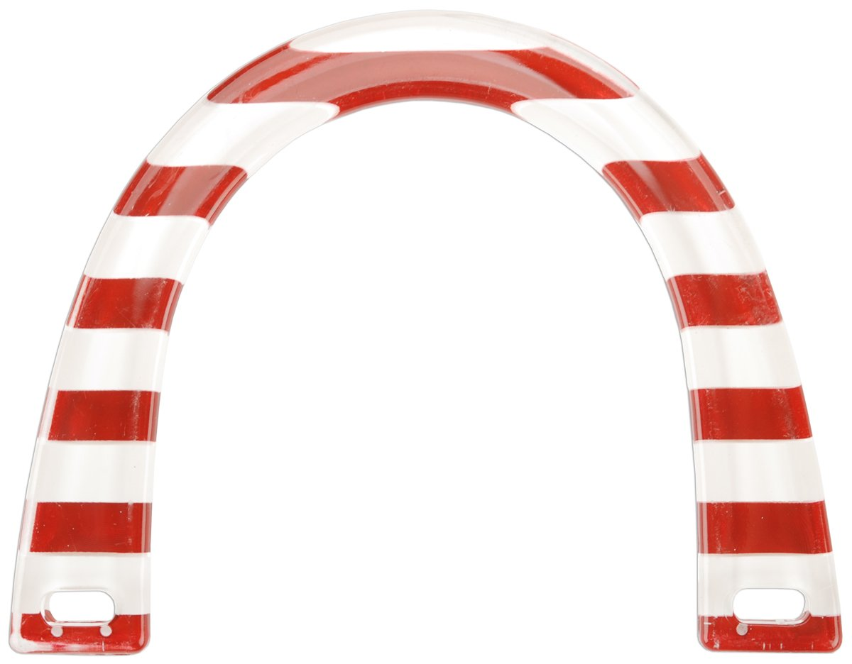 Sunbelt Fasteners P71-STRP Plastic Novelty Purse Handle 5-3/4-Inch X4-1/2-Inch U-Shaped-Red and White Stripes Notions - In Network