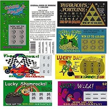 Amazon.com: Toy/Game Fake Lotería tickets- 6-each billete un ...