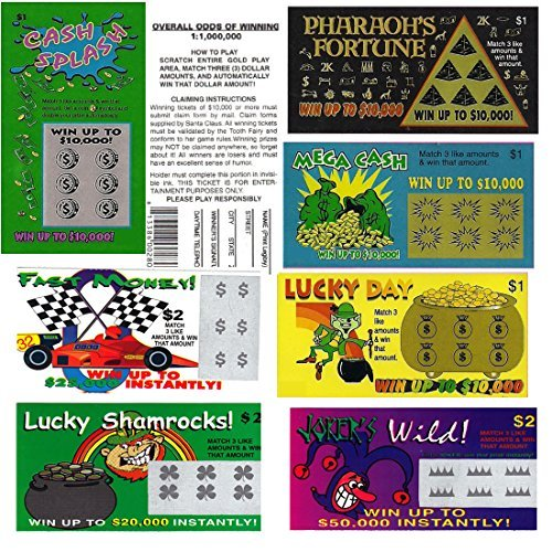 Fake Lottery Tickets- Set of 6-Each ticket a FAKE WINNER! (Lottery Ticket)