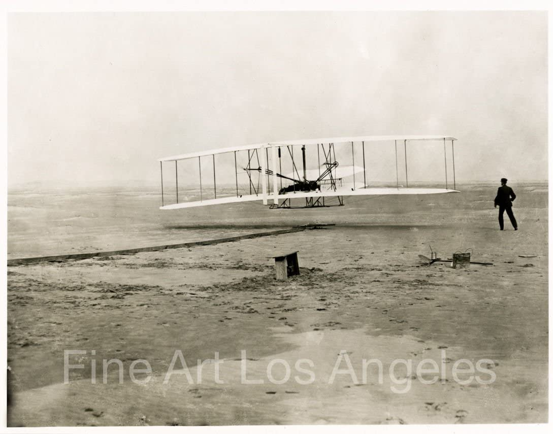 Wright Brothers First Flight PHOTO,1903,Orville Wilbur Kitty Hawk Airplane 8x10