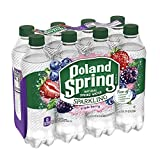 Poland Spring Sparkling Water, Triple Berry, 16.9 oz. Bottles (Pack of 8)