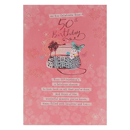 Hallmark 50th Birthday Card For Her Laughter And Fun