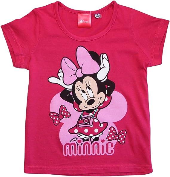 Minnie Mouse T-Shirt M/ädchen Disney Rundhalsausschnitt