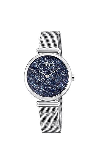 Lotus Watches Reloj Análogo clásico para Mujer de Cuarzo con Correa en Acero Inoxidable 18564/2: Amazon.es: Relojes