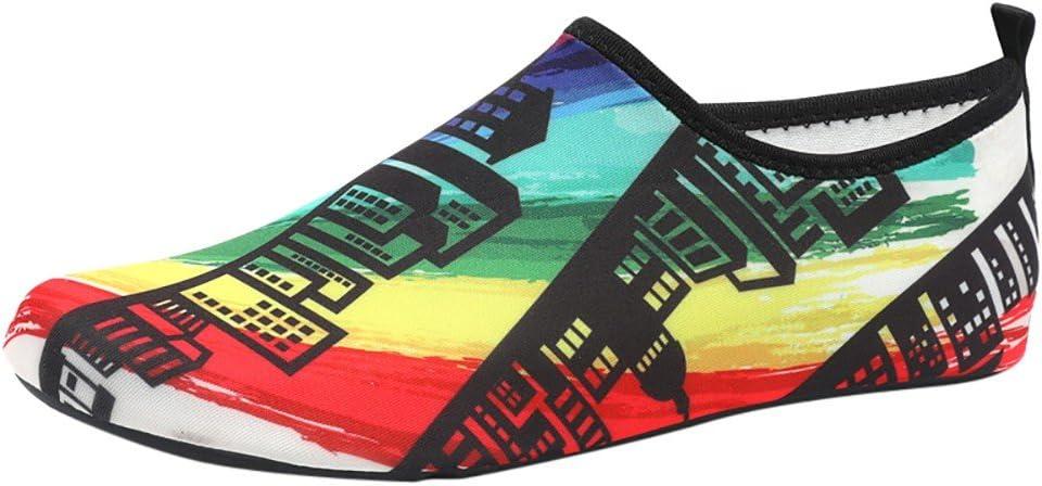 Qiiueen Zapatos De Agua, Parejas Calcetines De Buceo Calcetines De Natación Calcetines De Playa Zapatos para Snorkel Zapatos De Natación Zapatos De Yoga Negro Colorido: Amazon.es: Deportes y aire libre