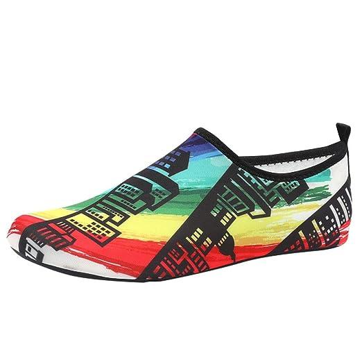 b75a46b11896 Amazon.com  NUWFOR Womens Mens Water Shoes Barefoot Quick-Dry Aqua Socks  Beach Swim Surf Exercise  Sports   Outdoors