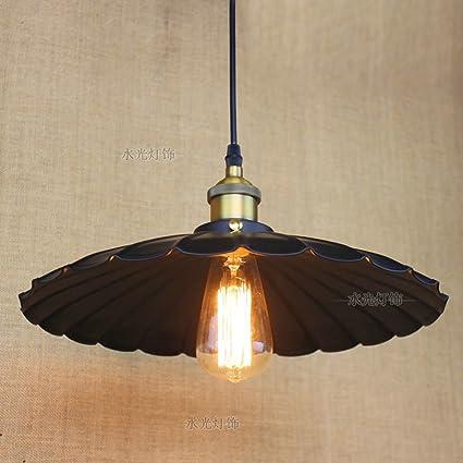 Pumpink Falda postmoderna de hierro 1 * luces colgantes ajustables de luz Creativa araña paraguas retro