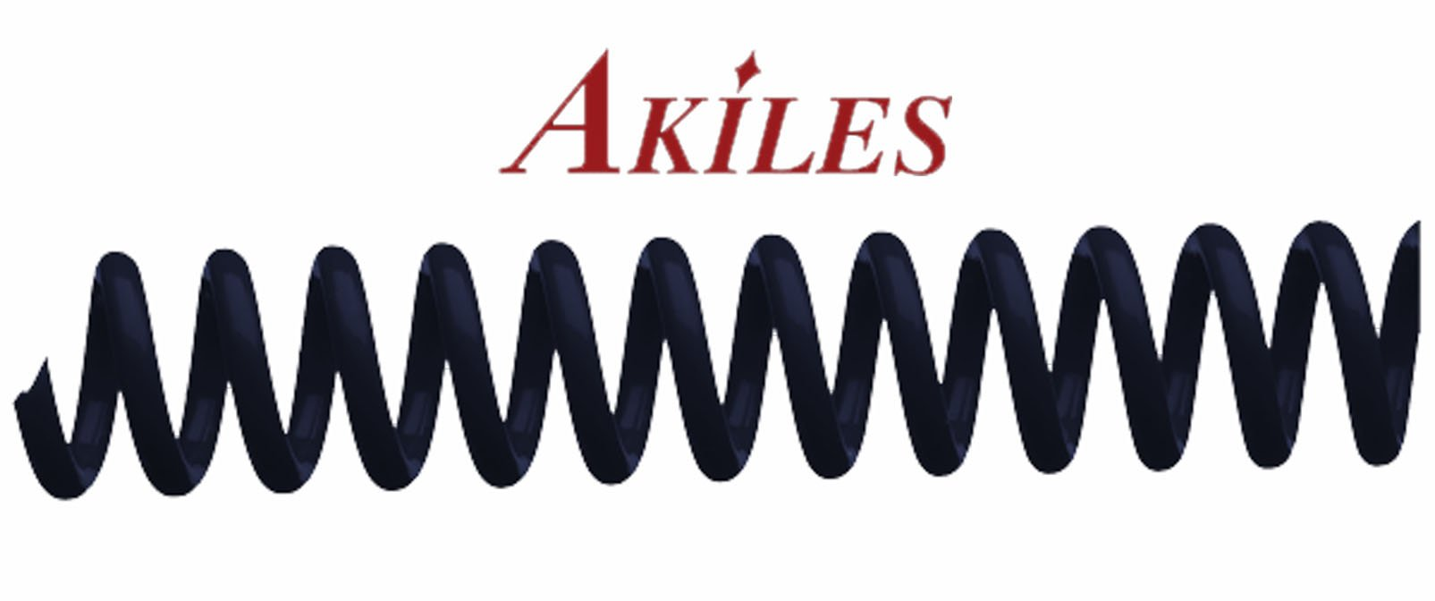 Akiles Spiral Coil Binding Spines 10mm (3/8 x 12-inch) 4:1 (pk of 100) Navy Blue by Oregon Lamination