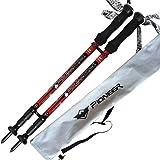2-Pack Carbon Fiber Anti-shock Trekking Poles Walking Hiking Sticks - Ultralight & Telescoping with EVA Foam Grips, & Tungsten Tips