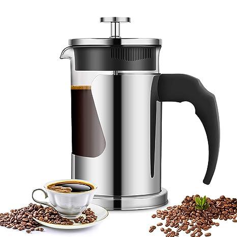 Amazon.com: Cafetera de prensa francesa, Ejoyous Coffee Tea ...