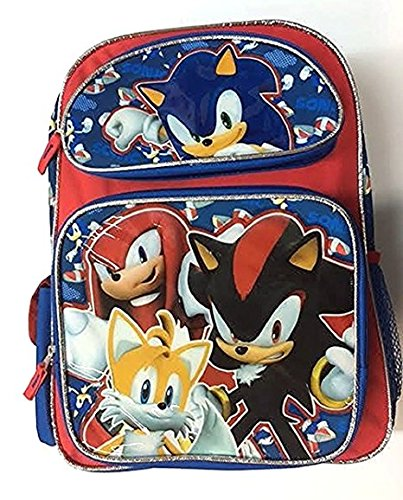 Sonic Team Tail, Shadow, Knuckles 16 Large Backpack