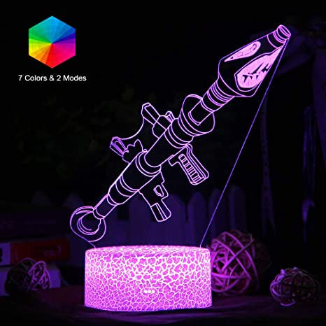 change in 7 colors Fornite 3D Lamp Home Decoration Led Light Night Light