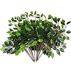 Get artificial greens ficus tree branches to add a charming accent to your floral arrangements  like this adorable smilax leaf spray in variegated green. These smilax leaves are perfect to add extra color and texture to your DIY centerpieces....