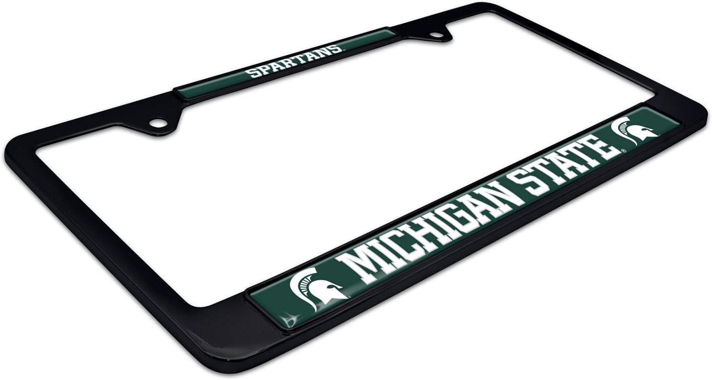 Elektroplate Michigan State Spartans Black License Plate Frame