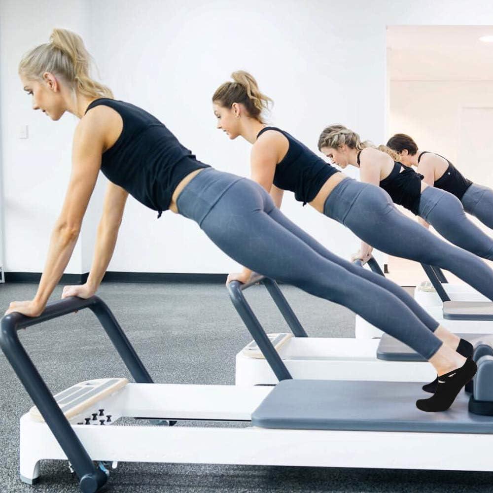 Pilates con Impugnatura Antiscivolo in Cotone Fitness Allenamento a Piedi Nudi iToobe da Donna Balletto per Pilates Barre Calzini da Yoga per Yoga