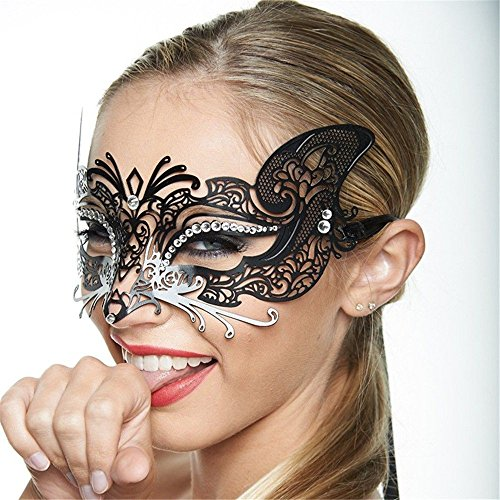 (Face mask Shield Veil Guard Screen Domino False Front Halloween Mask Makeup Prom Bar Show Mask Cosplay Venice Catwoman Mask Party)