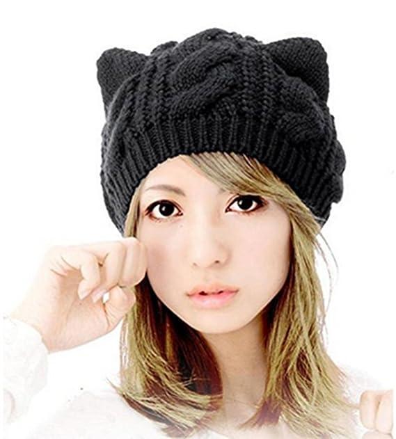 mütze mit katzenohren schwarz