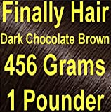 DARK CHOCOLATE BROWN Finally Hair Hair Fiber Refill 456 Grams Full Pounder For Hair Loss Concealing by Finally Hair