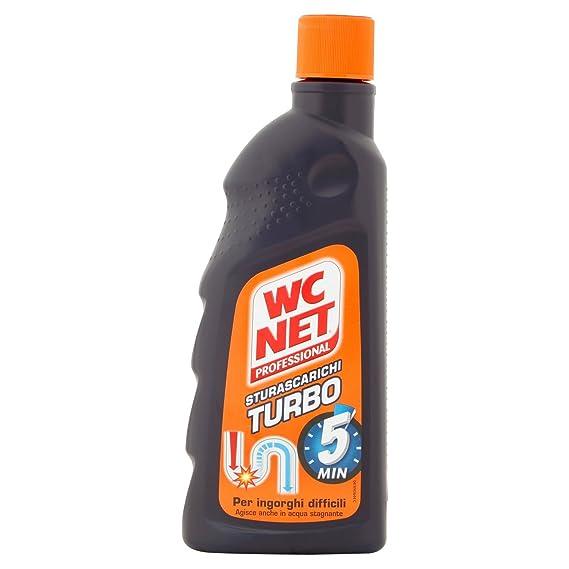 WC Net – sturascarichi Turbo, Gel superconcentrato para ingorghi difficili – 500 ml