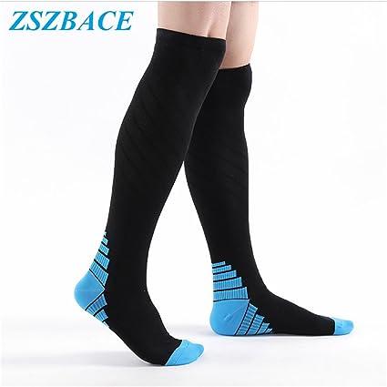 Calcetines de compresión ZSZBACE para mujeres y hombres, aptos para correr, deportes atléticos,