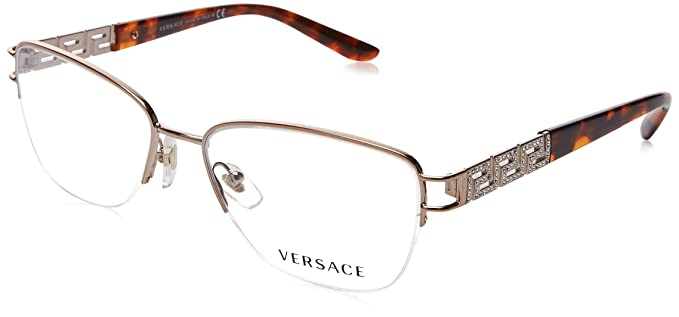 e6c0ca31f422 Versace Eyeglasses VE1220B VE/1220/B 1052 Copper Semi-Rim Optical Frame 52mm