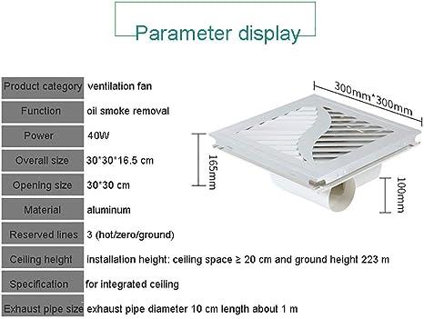 Extractor de aire Cocina, Ventilador de ventilación de escape, Ventilador Extractor de baño, Ventilador extractor de pared silencioso, Instalación en el techo: Amazon.es: Hogar