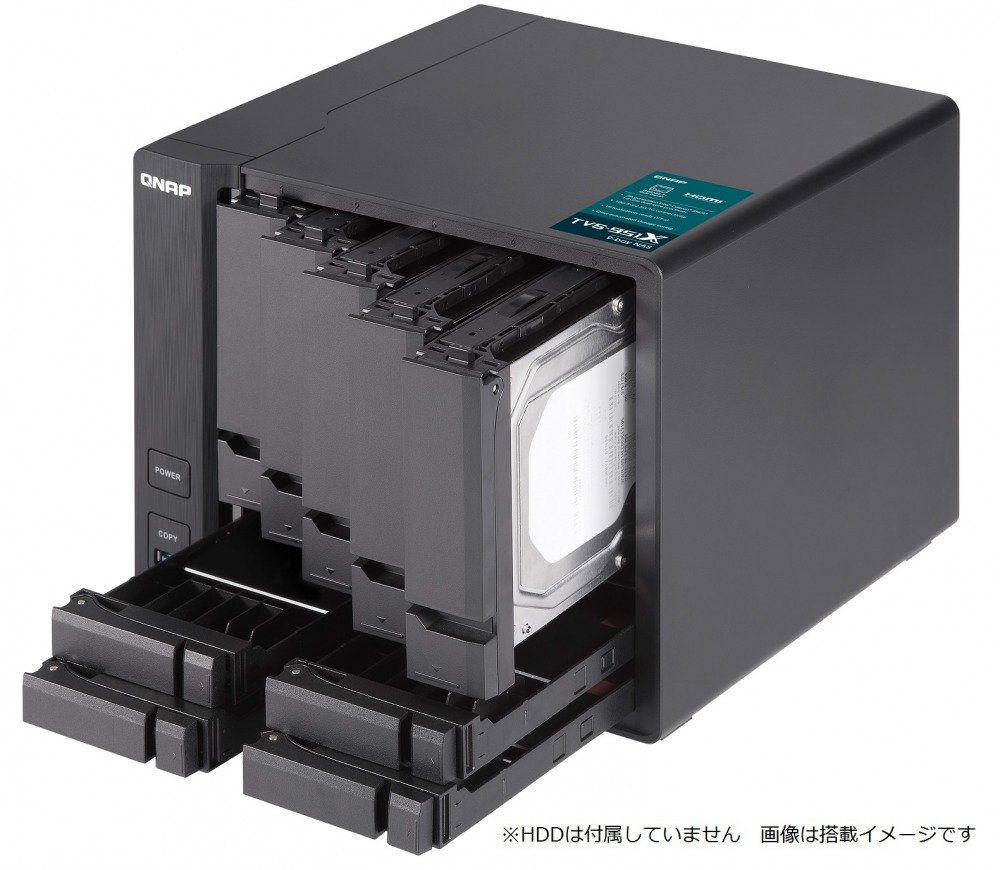 QNAP TVS-951X-2G-US 5+4 Bay NAS Intel Celeron Dual-Core 1.8 GHz, 2GB DDR4 1 X 10GbE Nbase-T LAN, 1 X GbE LAN, 1 x HDMI by QNAP (Image #5)
