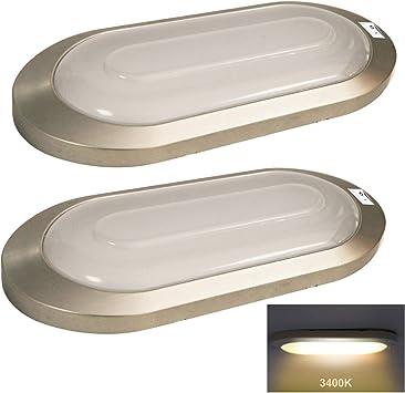 Pair RV LED 10-12V Fixture Ceiling Boat Trailer Camper Marine Dome Spot Light