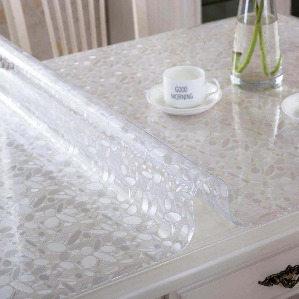 QYM ポリ塩化ビニールのテーブルクロス水およびオイルの証拠のテーブルクロス柔らかいガラスはテーブルクロスをつや消し (Color : J, サイズ : 90x150cm(35x59inch))   B07S6LC42J