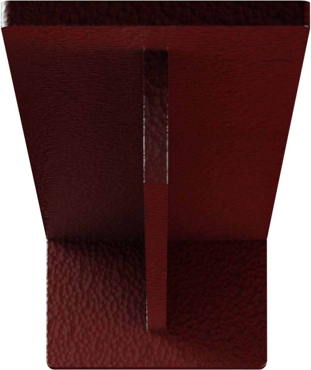 Ekena Millwork Bktm03x14x02hehre Steel Bracket Heaton Hidden Support 3 W X 14 D X 2 H 10 Depth Hammered Bright Red Amazon Com