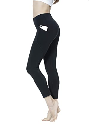a8c118a673f1c Womens Yoga Pants Compression Pocket Leggings with High Waist Streamlined  Design Workout Fitness Sports Gym Running