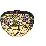 Vigne Sauvage Applique murale en verre style Tiffany Vitrail lumière