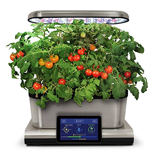 AeroGarden Harvest Touch with Gourmet Herb Seed Pod Kit, Stainless Steel