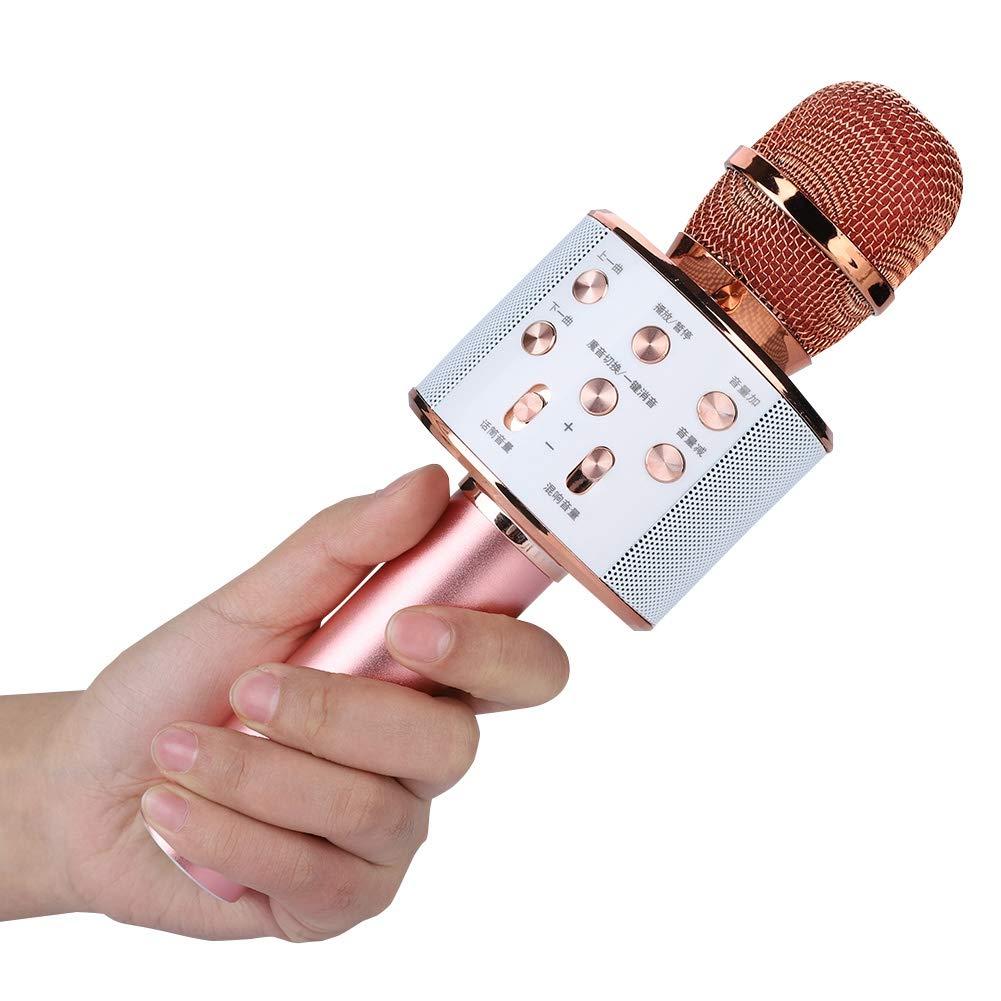 ASHATA Karaoke Machine,Stereo Surrounding Sound Karaoke Bluetooth Microphone with Speaker Stereo Surrounding Sound Support U Disk/TF Card,Wireless Karaoke Microphone MIC with Long Play Time by ASHATA (Image #9)